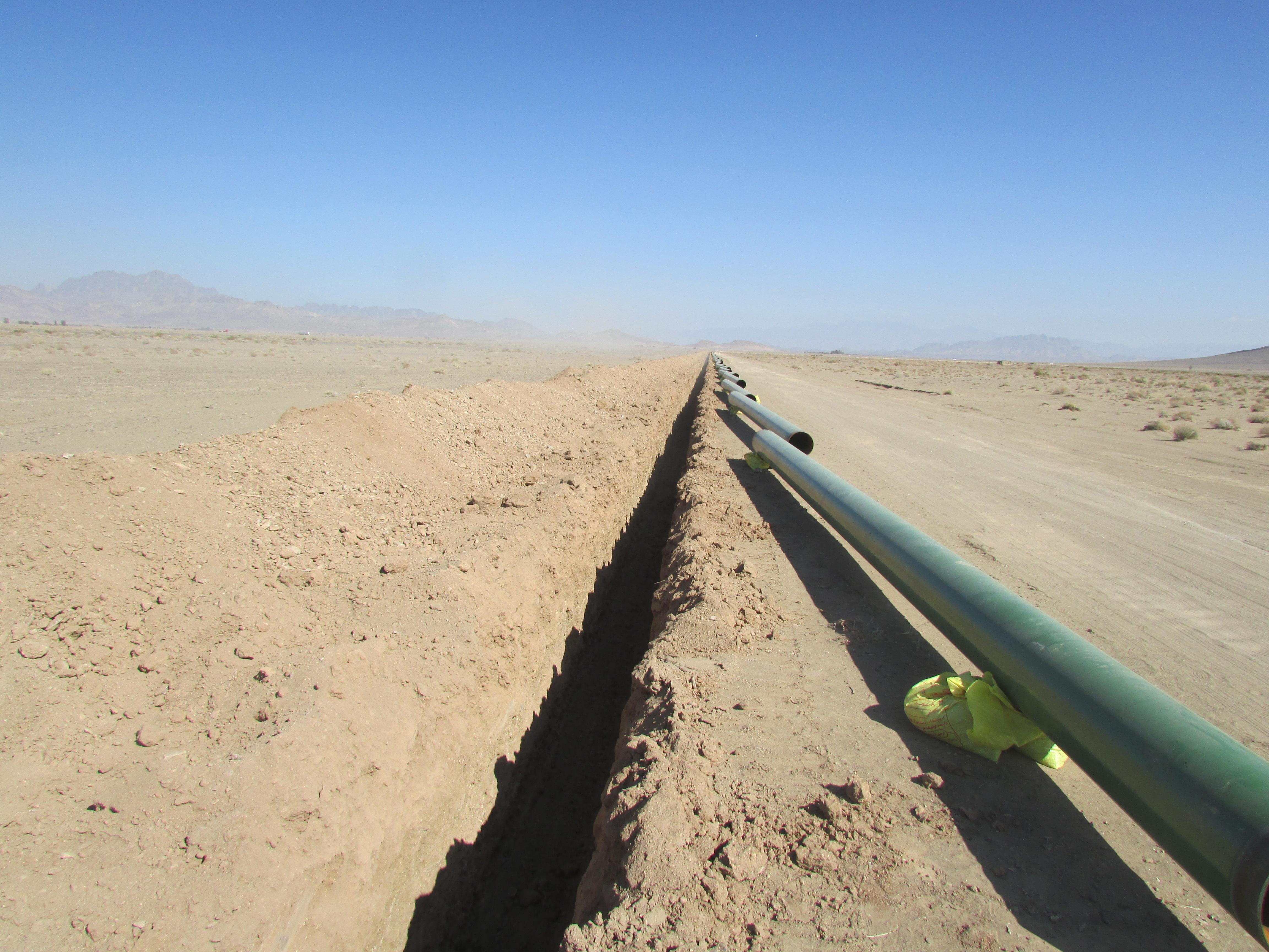 احداث خطوط لوله انتقال گاز ایرانشهر به شهرهای پالیزان و خاش به روش EPC